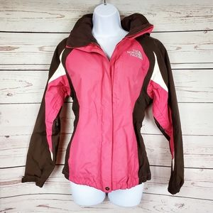 The North Face Hyvent pink brown winter jacket S